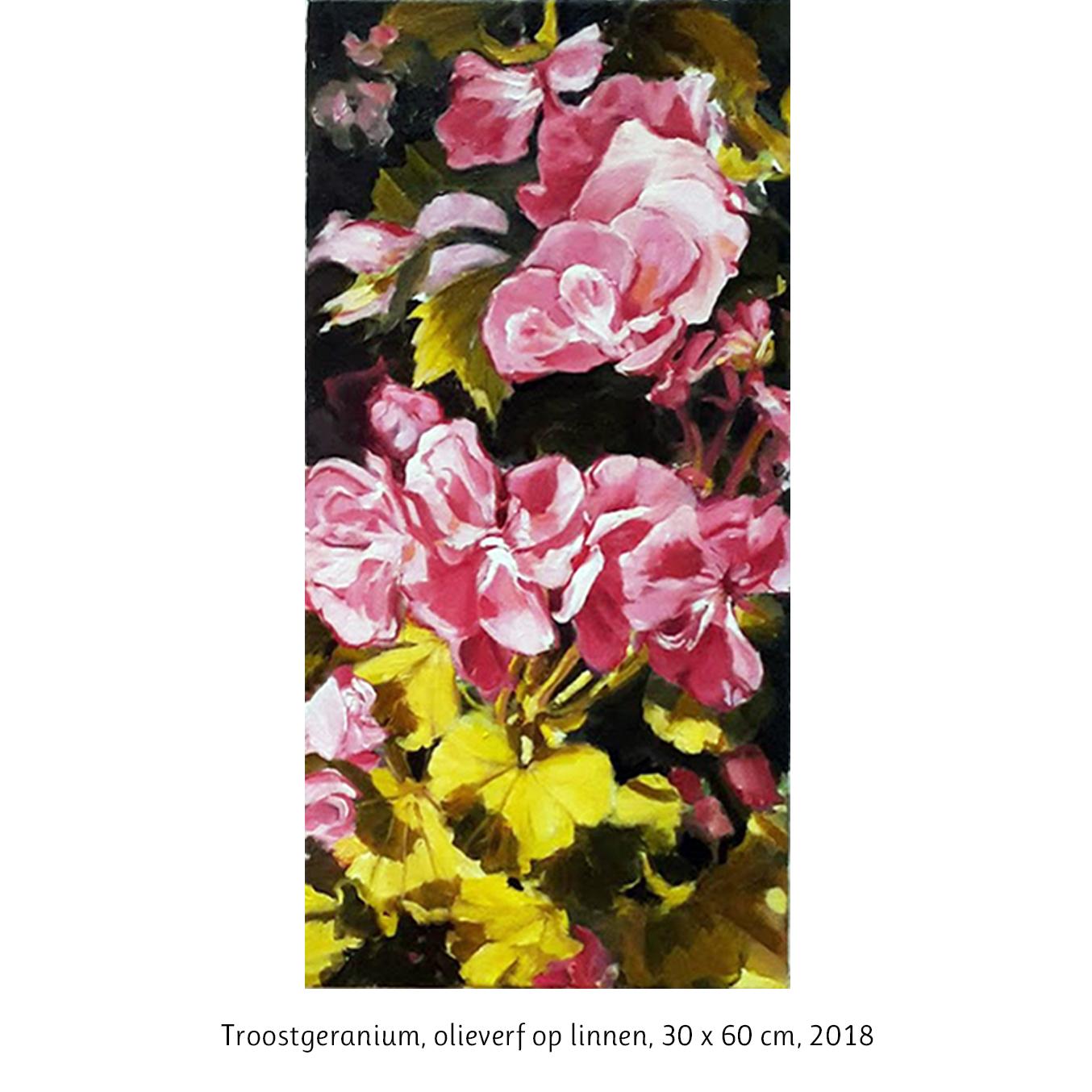 geraniumschilderij