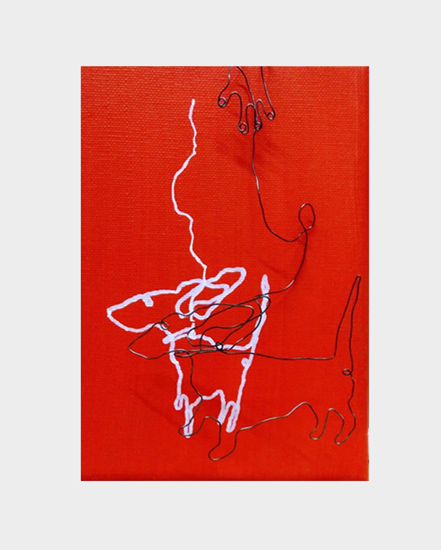 ik_wou_dat_ik_twee_hondjes_wasIII, 12 x 18 cm, 2020