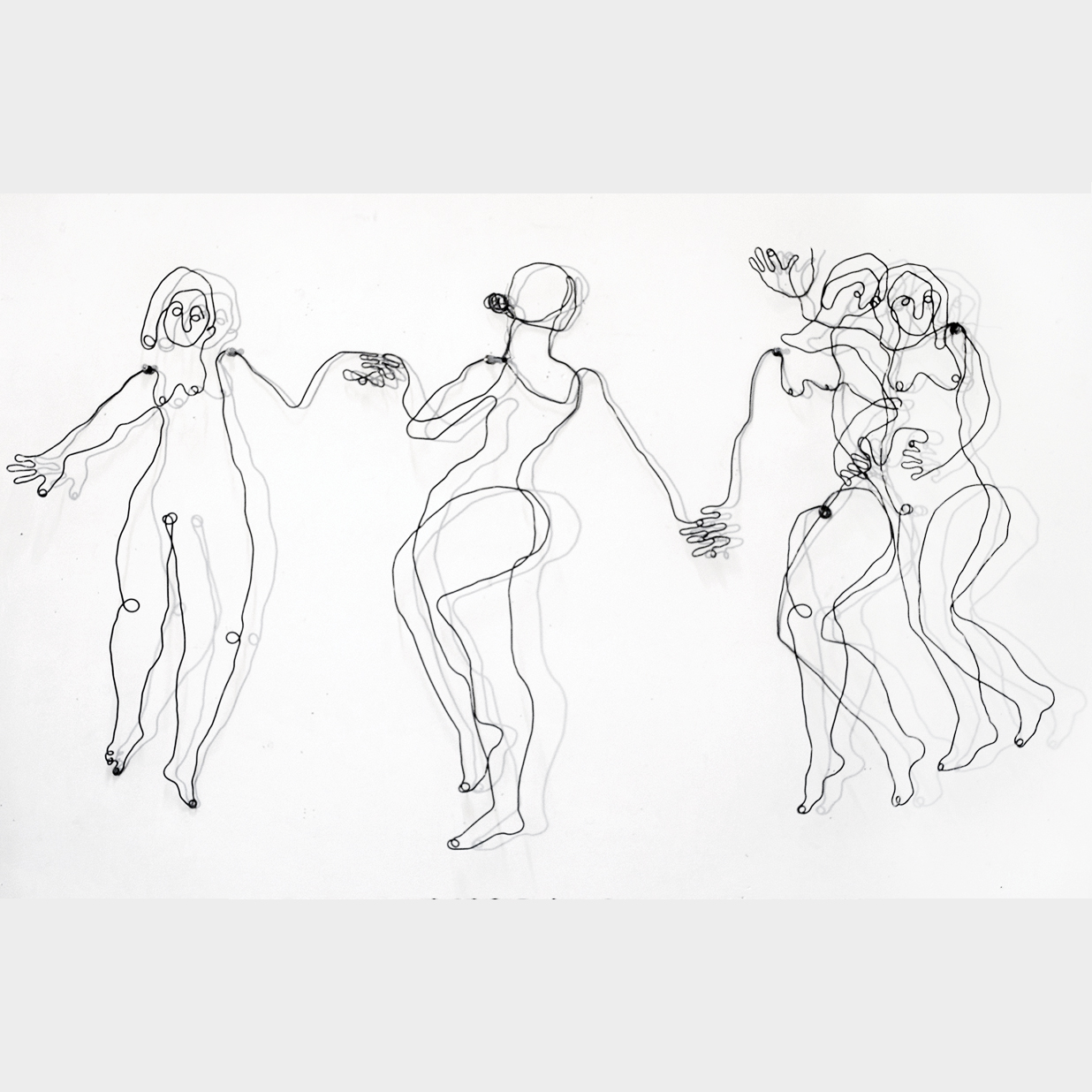 draadfiguren 'muzen, 4_dochters-van Zeus',