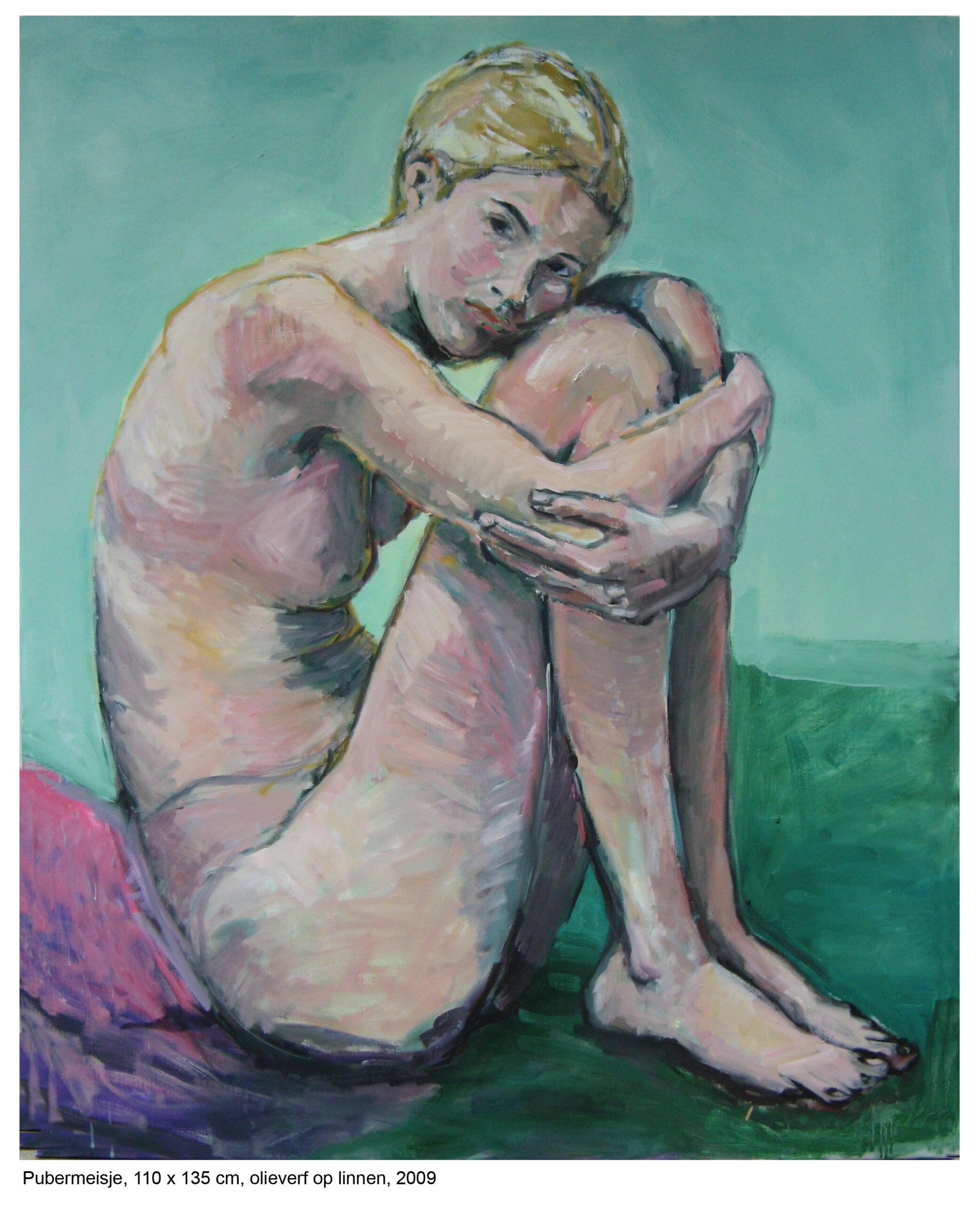 Pubermeisje, 110 x 135, olieverf op linnen, 2009