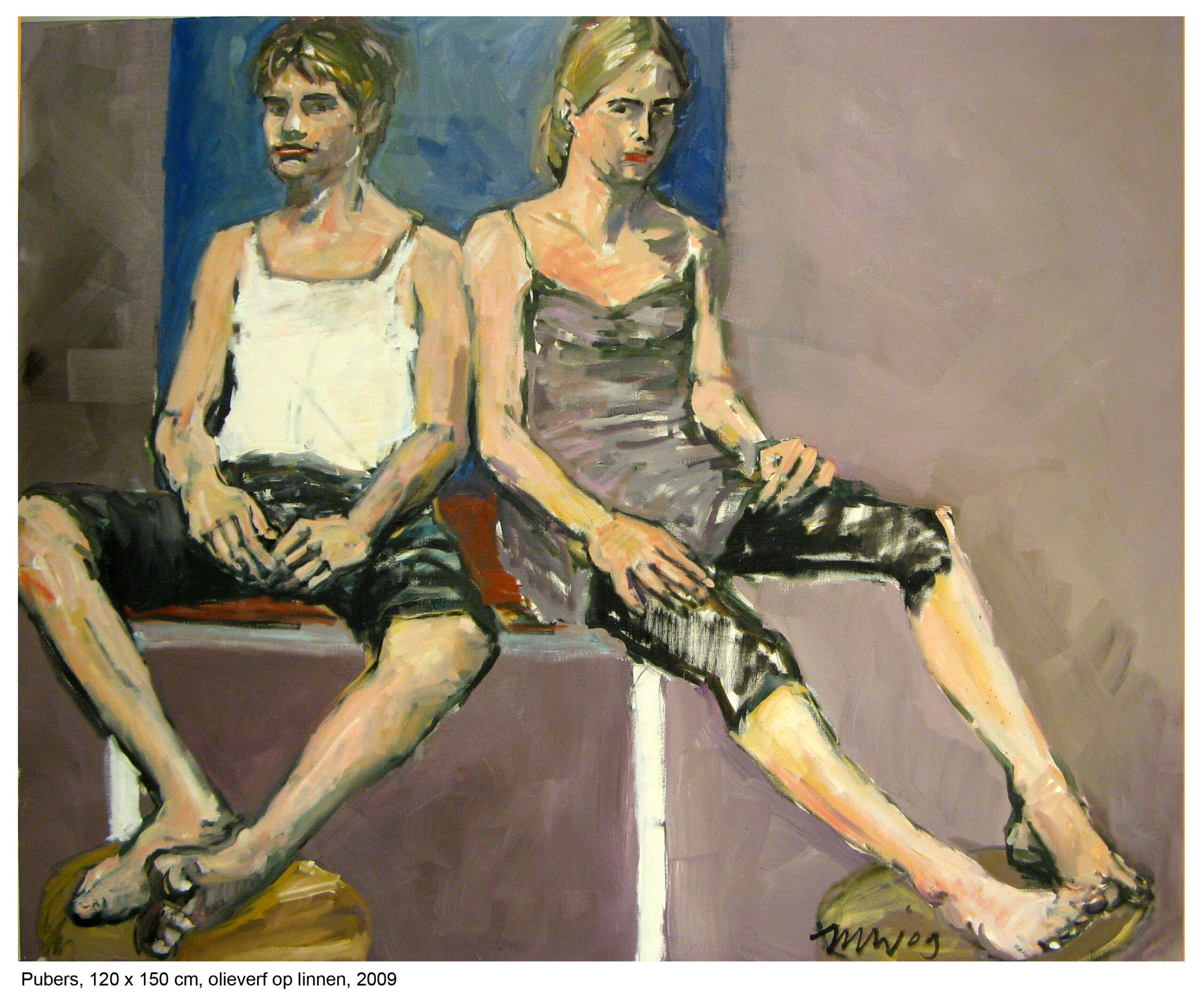 Jana en Tom, 120 x 150 cm, olieverf op linnen, 2009